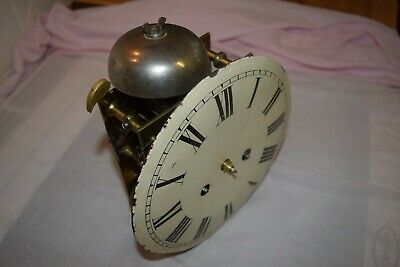 antique double fusee clock movement striking on bell