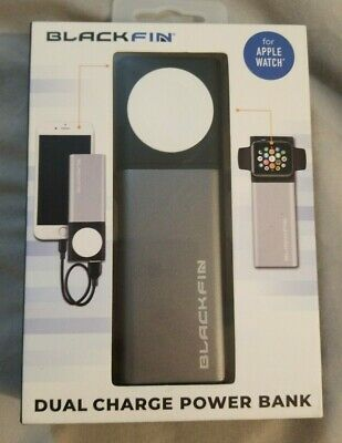 BlackFin Dual Charge Power Bank for Apple Watch