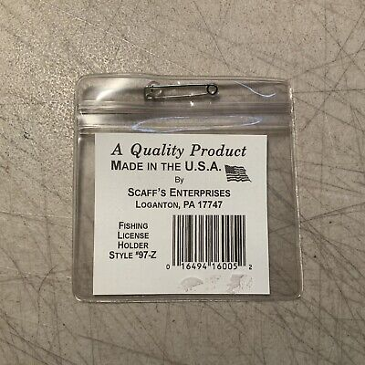 Scaff/'s Double License Holder  # 18F For Hunting Fishing Orange Outdoor 18 F NEW