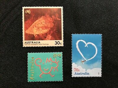 100 australia $2.20 (3 stamps) face value domestic POST stamps MINT