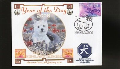 West Highland Terrier 2006 Year Of The Dog Stamp Cover