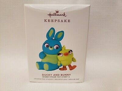 Hallmark 2019 Disney Pixar Ducky And Bunny Ornament