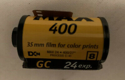 Kodak Max 400 Film 24 Exposures 35mm Color 1 Unused Roll New / Expired Film