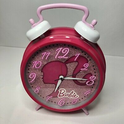 """Barbie Doll Alarm Desk Clock 3.75/"""" Home or Office Decor Y33 Nice For Gift"""