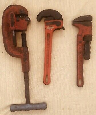 """Ridgid No. 2A Heavy Duty Pipe Cutter, Rapidgrip HD 12"""" Pipe Wrench & SPUD 2 5/8"""""""