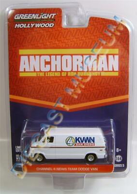 GREENLIGHT BARRETT  HOLLYWOOD ANCHORMAN CHANNEL 4 NEWS TEAM DODGE VAN SERIES 6