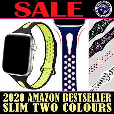 For Apple Watch Band Series 5 4 3 2 1 Sport Silicone iWatch Strap Wristband SLIM
