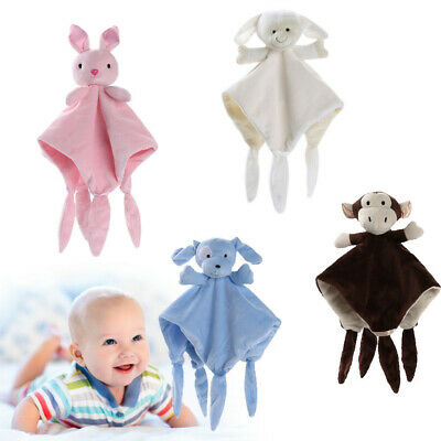 Cute Newborn Soft Baby Teddy Bear Puppet Toy Gift Snuggle Baby Comforter Blanket