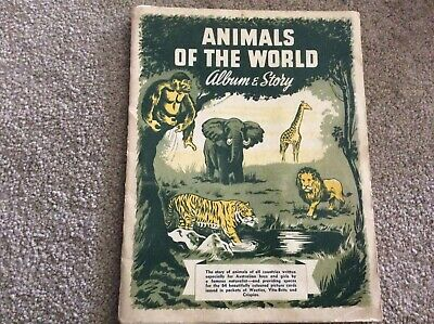 Breakfast cereal cards + Album Vita-Brits full set Animals of the worlld collect