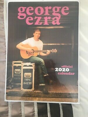 2020 OFFICIAL GEORGE EZRA CALENDAR BY DANILO, A3 WALL CALENDER  Sealed