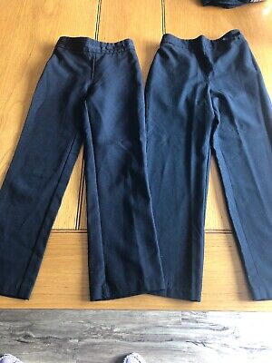 Girls School Black Trousers Age 6 - 8 Years From George