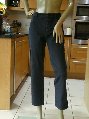 *MASSIMO DUTTI* Ladies Dark Blue STRETCH CROPPED JEANS uk16 BNWOT rrp£50