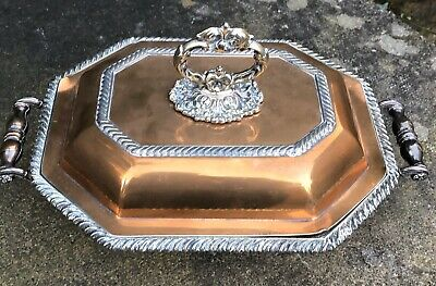 Antique Old SHEFFIELD PLATE Footed Sectional Food SERVING Warming DISH Georgian