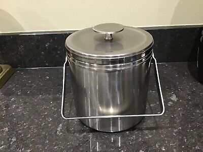 High Quality Brushed Stainless Steel Lidded Ice Bucket