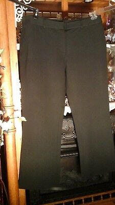 Lands' End Nwot Black Viscose Stretch Knit Career Pants Plus Sz 20W 1X Tall