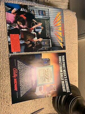 """11-8 1/4"""" Journey Mappy Bally Midway arcade video game FLYER AD"""