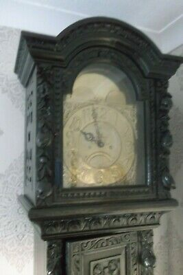 Stunning Antique Heavily Carved GRAND LONGCASE clock Taylor Whitehaven Rare