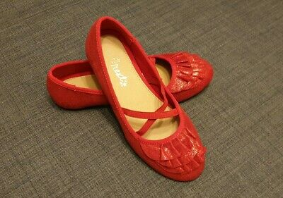 Next girls shoes size 2   Red ballet style