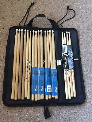 Drum Sticks And case - Mixture Of New & Used
