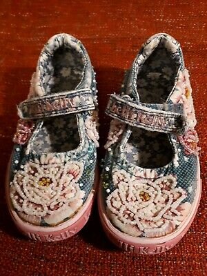 Girls Kids Lelli Kelly Canvas Shoes Size 8.5 Infant