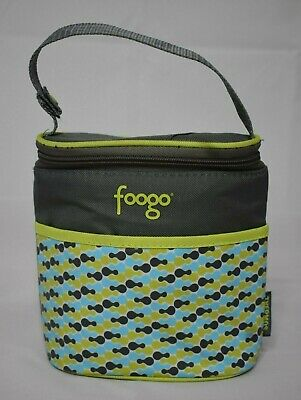 foogo Baby Bottle Insulated Thermos Bag Zipper Lid Front Pocket Tripoli design