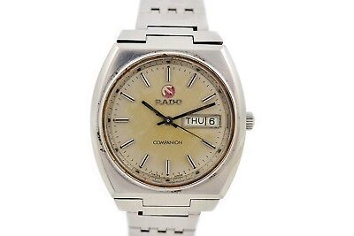 Vintage Rado Companion Stainless Steel Automatic Mens Watch 245