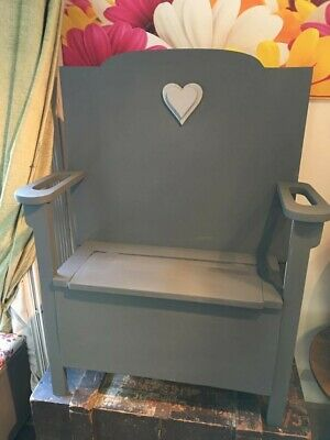 Dark grey monks bench storage seat hallway storage chair bench
