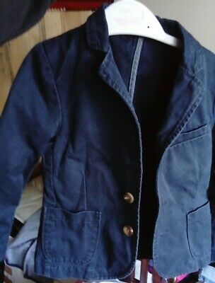 Boys Next Canvas Blazer Jacket Navy Smart Casual 4 Years Old Heavy Linen