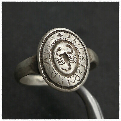 """ Scorpion""  Ancient  Silver Byzantine Or Medieval  Ring!!!!"