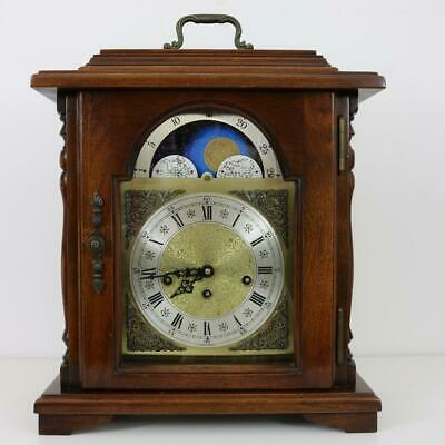 MOONROLLER BRACKET MANTEL CLOCK with WESTMINSTER QUARTER CHIMES by EMPEROR works