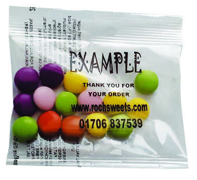 Chocolate Beans Sweet Packs Business Personalised Promotional Gift 20g Halal