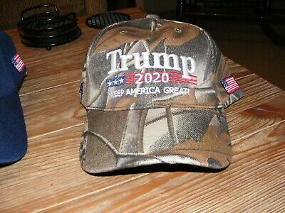 Trump 2020 Hat Camouflage Embroidered Keep America Great Cap USA Flag