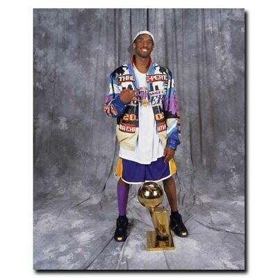 Kobe Bryant With Champion Cup 24x30inch Sports Silk Poster Wall Decoration