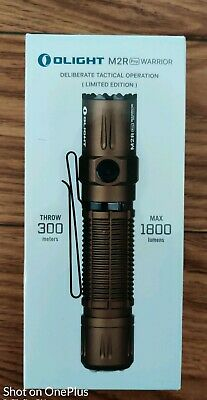 OLIGHT M2R PRO Warrior 1800 Lumens Rechargeable Tactical Flashlight Desert Tan