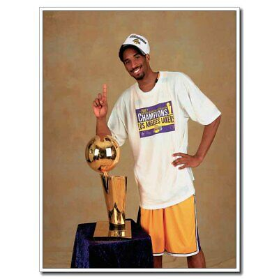 Kobe Bryant 1st Champion 24x36inch Sports Silk Poster Room Decal Large Size