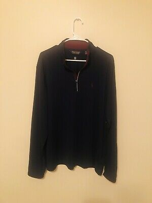 Polo by Ralph Lauren Half Zip Pullover sweater XL Extra Large Navy