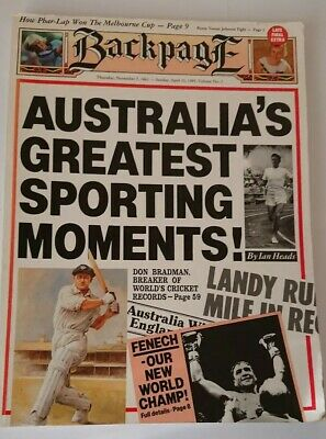 Backpage Australia's Greatest Sporting Moments, large size Book. 1989 Ian Heads