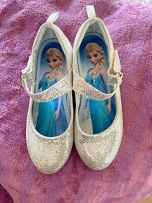 Disney Frozen Girls Sparkly Elsa Shoes Size UK 12