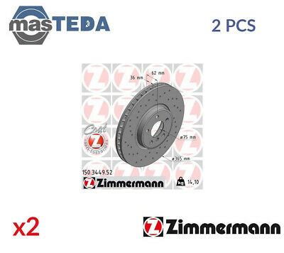 Front Brake Discs 365mm Vented Fits BMW X5 E70 F15 M Sport Brembo 09.9921.11