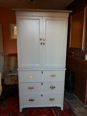 Victorian Linen Press/Larder/Housekeepers cupboard. Upcycled in Farrow and Ball