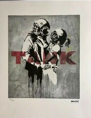 Banksy Lithographie Signed Numbered on 150 - Certificat Edition