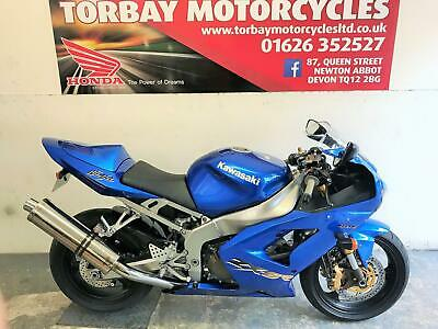 Kawasaki Zx6R 636 Supersports In Blue With Just 6989 Miles 2003 03 Reg