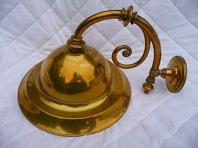 Vintage Large Brass Wall Light Victorian Style Architectural Detail Great Colour