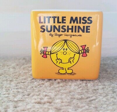 Little Miss Sunshine Egg cup square yellow egg mr men 2014 by roger Hargreaves