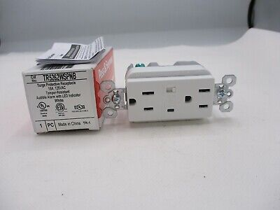 New Pass&Seymour Legrand Tr5262Wspnb Surge Protective Receptacle White 15A 125V