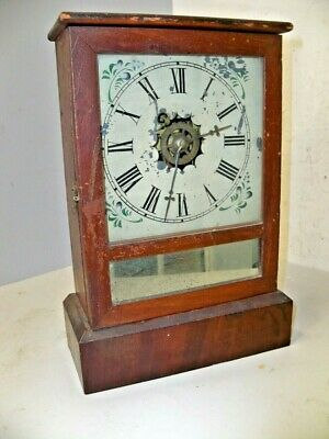 Antique Waterbury Cottage Clock 30 Hr Time & Alarm