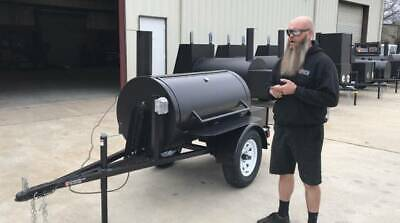2020 Rotisserie BBQ Smoker Trailer Super Nice - Brand New Barbeque Cooker -CHEAP