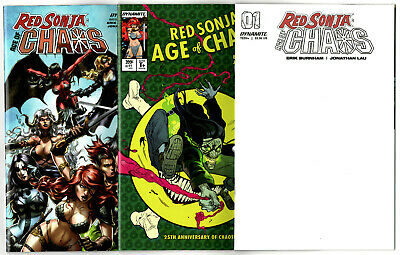 Red Sonja Age of Chaos #1 Cover D VF//NM 2020 Dynamite