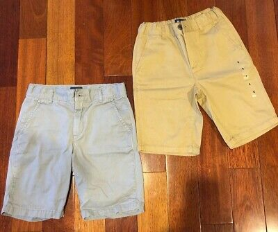 Lot Of 2 Pairs Of The Children's Place Boys Chino Shorts Size 8 Flax Tan & Grey