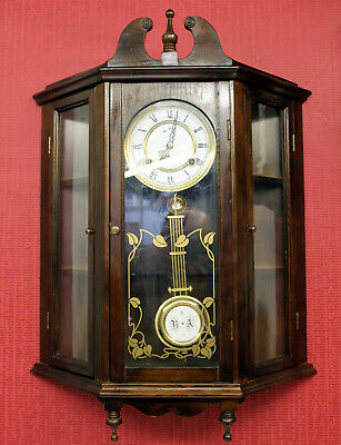 Old Wall Clock Chime Clock Regulator 31 Day *ANKER*Clock Showcase model